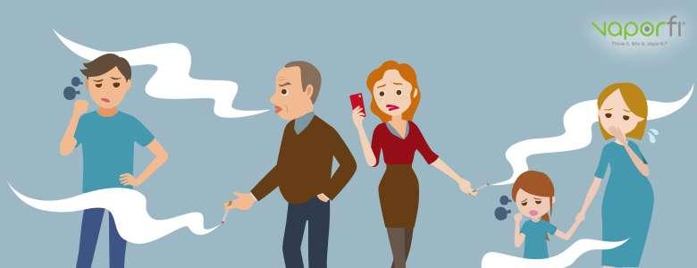 Risks of Second-hand Smoke vs Second-hand Vapor - VaporFi