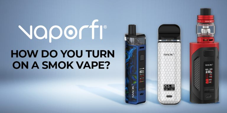 how do you turn on a Smok vape