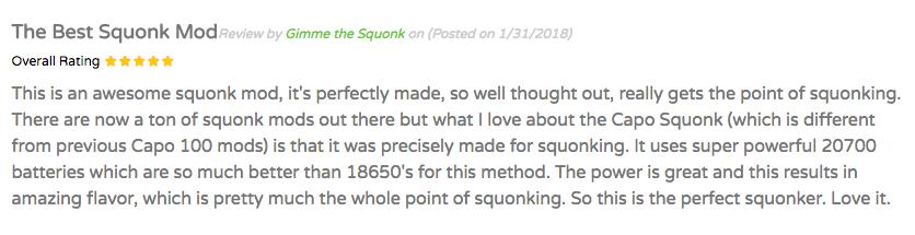 iJoy Capo Squonk Mod 100W TC 5-Star Review