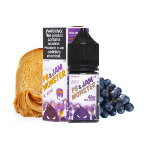 PB & Grape Salts E-Liquid by Jam Monster (30mL)