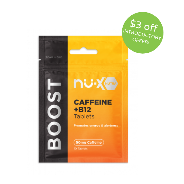 NU-X Boost Caffeine/B12 Chewable Tablets - Pack