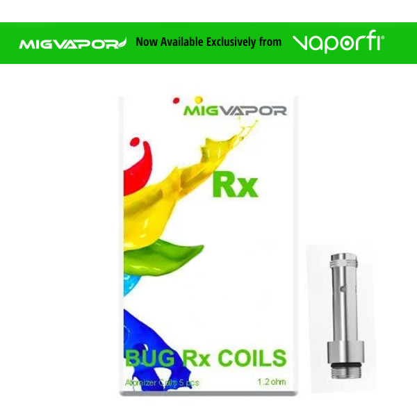 Mig Vapor Bug RX Replacement Coils - 1.20 ohm - 5 Pack