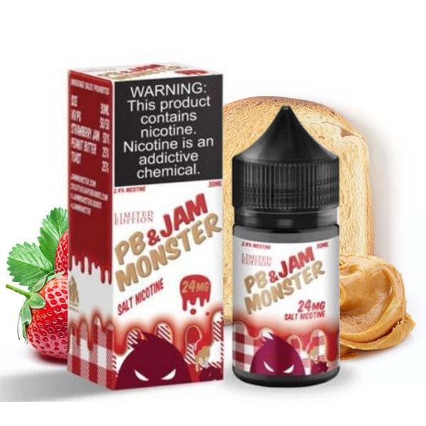 PB & Strawberry Salts E-Liquid by Jam Monster (30mL)