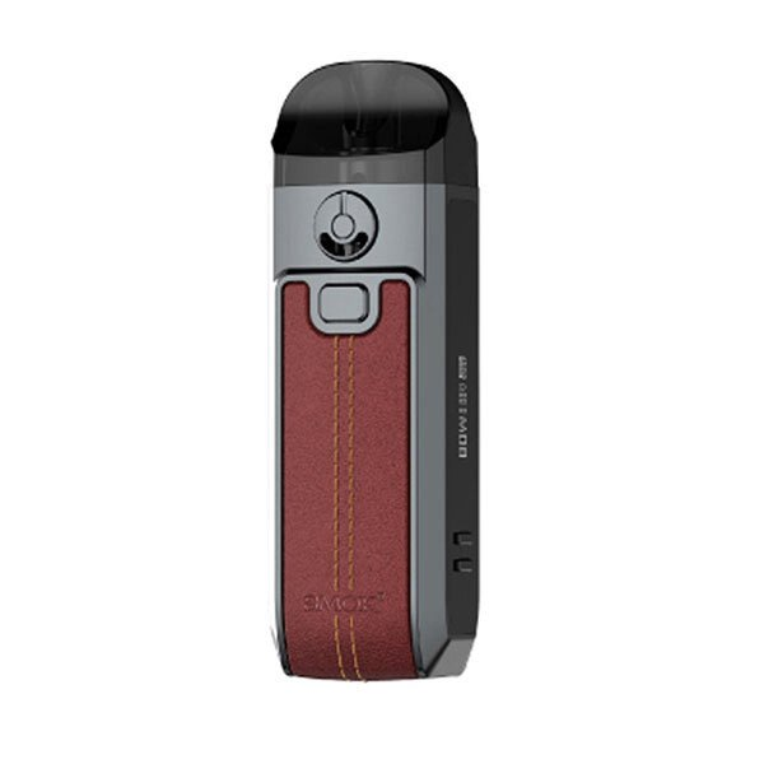 Smok Nord 4 Vape Pod Starter Kit_Red Leather