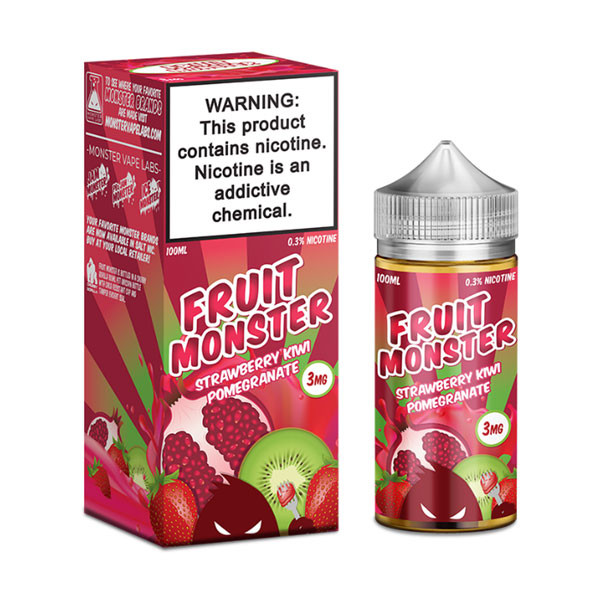 Kiwi Pomegranate Salt E-Liquid by Fruit Monster (30mL)