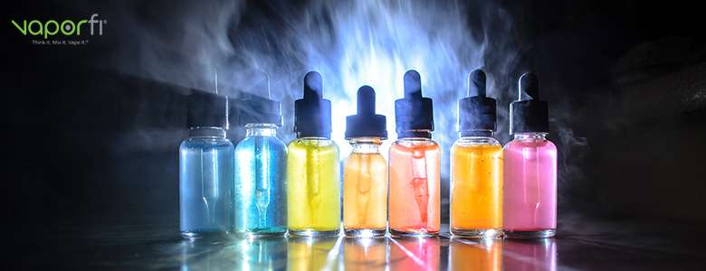 colorful variety of e liquids